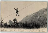 Beaumont 1908 Descente sur le Cable du Saleva Ort lt. Stempel Saint-Julien-en-Genevois