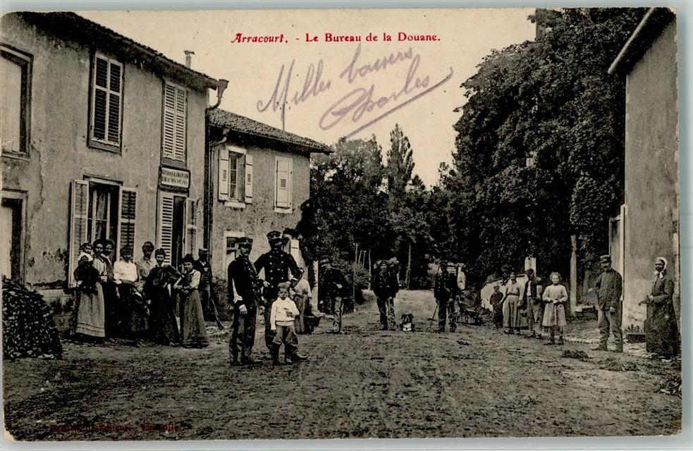 Arracourt 1915 gebrauchsspuren grenze le bureau de la douane wk i ak