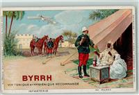 Lithographie Collection BYRRH Infanterie  in Marokko AK