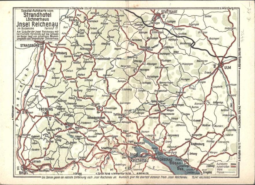 Insel Reichenau Karte.7752 Reichenau Landkarte Insel Reichenau Keine Ak Ca 21 1x15 2 Cm