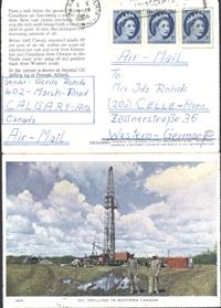 Klapp AK Öl Oil Drilling in Western Canada  1956