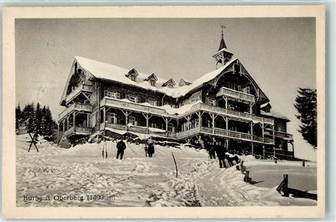 Flums 1914 Winter Alpen Kurhaus Oberberg