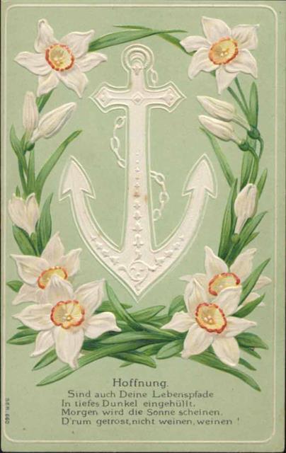 Spruch Anker Blumen Hoffnung Ansichtskarten Center