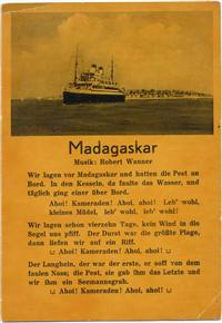 Madargaskar, Liedertext, Text: Robert Wanner, Schiff,Karl