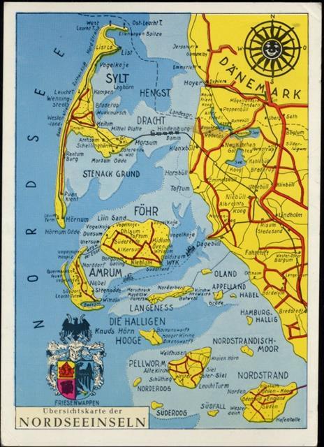 insel föhr karte 2270 Föhr Insel Föhr, Landkarte,Schöning & Co. Preissenkung