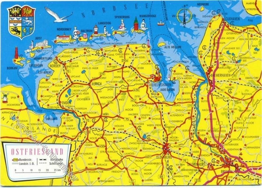 2960 Aurich Aurich Landkarte Ostfriesland Schoning Co