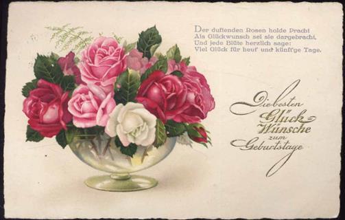 Die Besten Gluckwunsche Zum Geburtstag Rosen Ansichtskarten