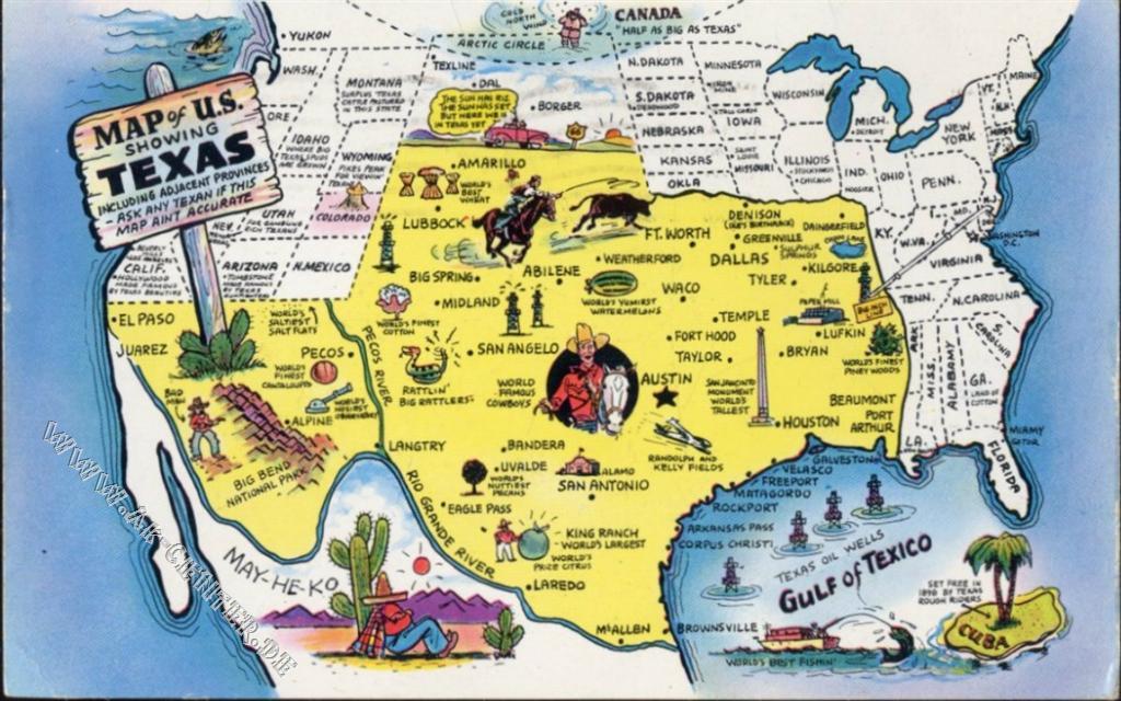 Texas, Landkarte (map), USA,Morse Wholesale Co ...