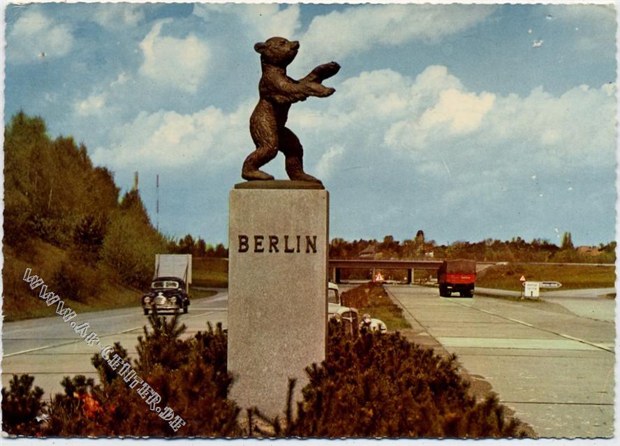 1000 Berlin Berliner Bär Autobahn Berlinhans Andres