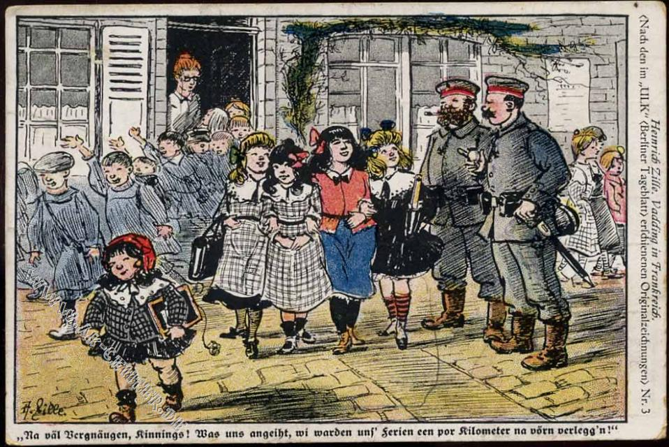 Soldaten, Schulkinder, Ferien, Spruch, Militär, Uniform,:  Ansichtskarten-Center Onlineshop