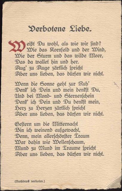 sprüche verbotene liebe Verbotene Liebe , Gedicht,Lisbeth Klein Preissenkung  sprüche verbotene liebe