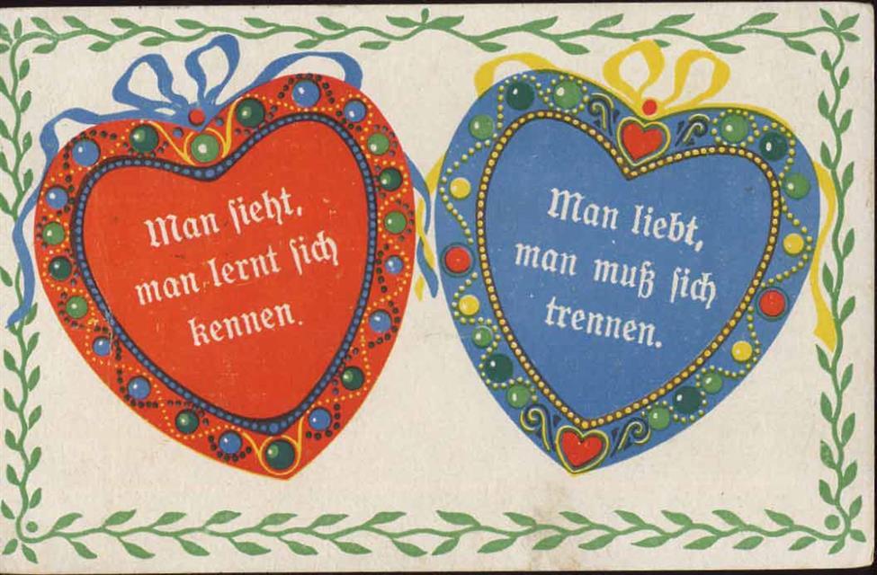 Herzen Mit Sprüchen über Liebe Preissenkung Ansichtskarten Center