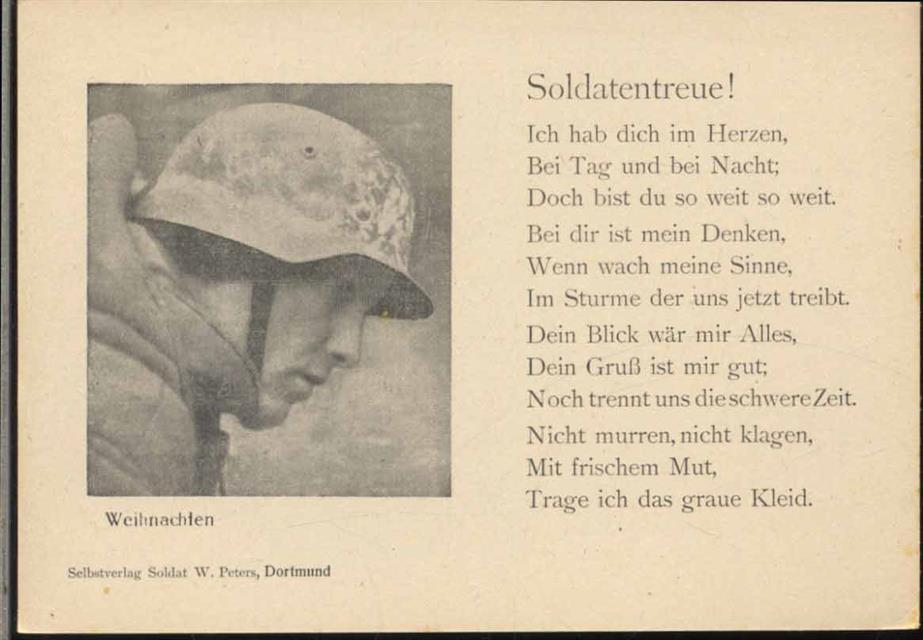 Weihnachten, Soldatentreue!-, Soldat, Gedicht, Militär ...