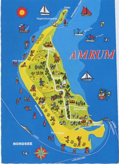 amrum karte 2278 Norddorf Norddorf, Amrum, Landkarte (map),Rubin Verlag  amrum karte