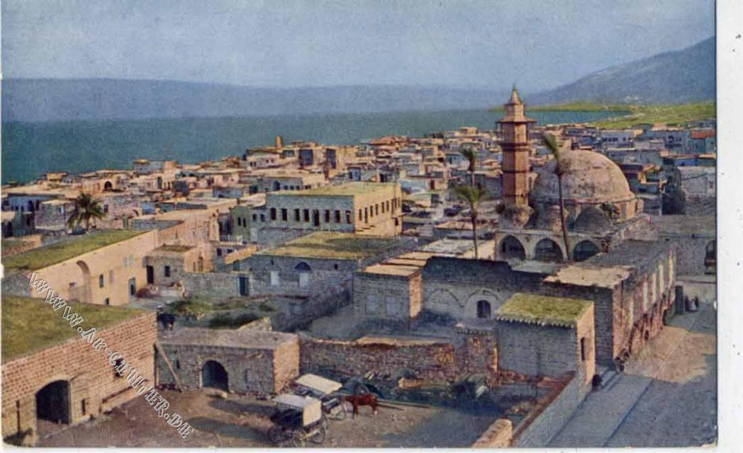 Tiberias Israel  city images : Israel, Tiberias, Palästina, Stadtansicht, Synagoge,Hans ...