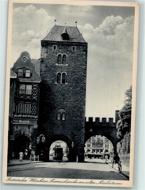 5900 Eisenach Hist. Weinhaus Turmschänke Nikolaiturm Straßenbahn WK ...