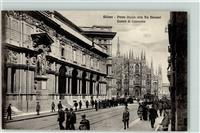 Milano Piazza Duomo dalla Via Mercanti Camera di Commercio Oldtimer Straßenbahn