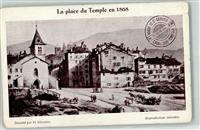 Carouge GE La Place du Temple en 1868