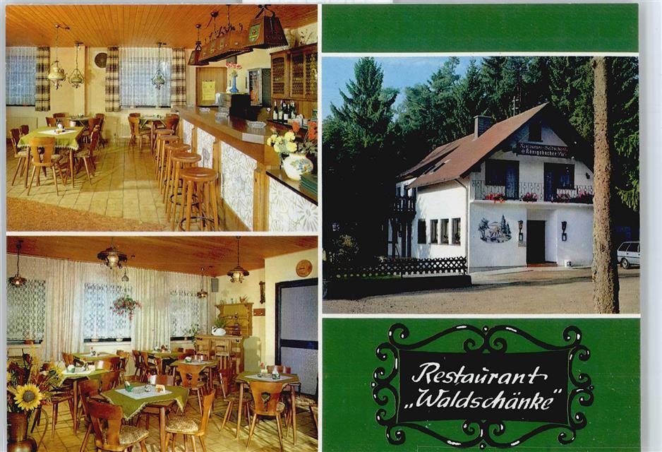 5598 Alflen Restaurant Waldschänke Preissenkung: Ansichtskarten ...