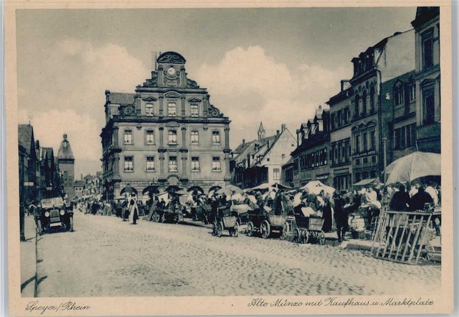 6720 Speyer Alte Münze Kaufhaus Marktplatz Preissenkung