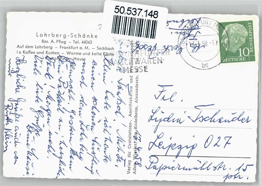 6000 Seckbach Lohrberg Schänke Preissenkung: Ansichtskarten-Center ...