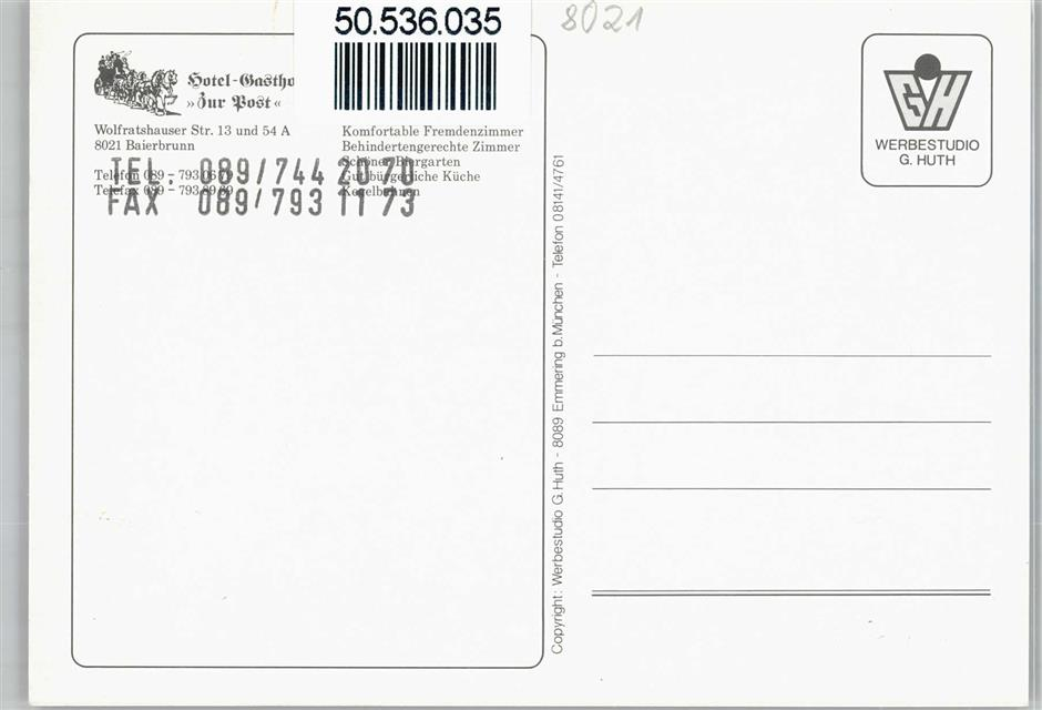 8021 Baierbrunn Hotel Strobel Gasthof Zur Post Preissenkung Ansichtskarten Center Onlineshop
