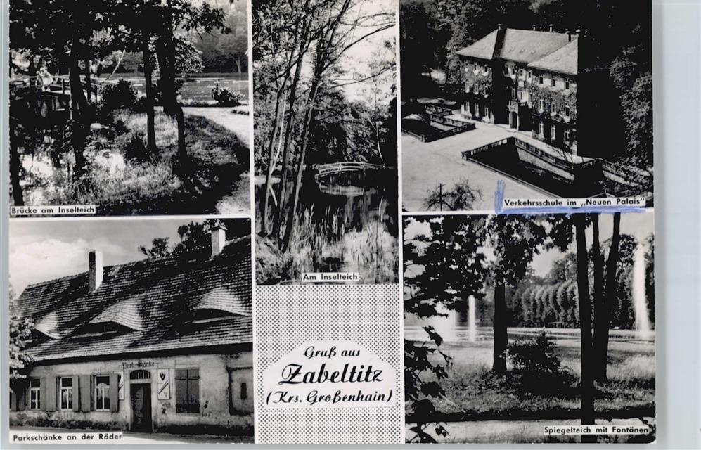 8281 Zabeltitz Inselteich, Verkehrschule im Neuen Palais ...