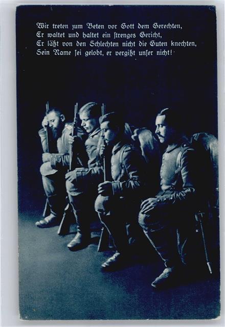 Spruch Soldaten beten: Ansichtskarten Center Onlineshop