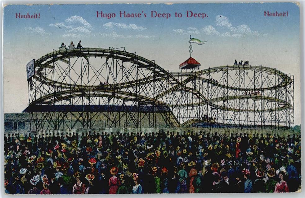 Jahrmarkt Achterbahn Hugo Haase Ansichtskarten Center Onlineshop