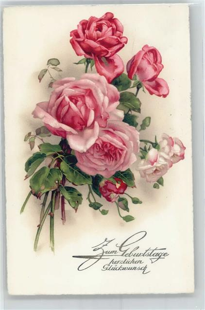 Geburtstag Rosen Ansichtskarten Center Onlineshop