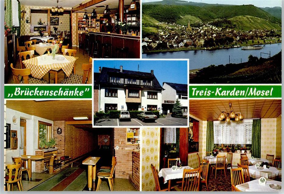 5402 Treis-Karden Gasthaus, Pension Brückenschänke, Kegelbahn ...