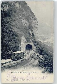Saleve Bahn mit Tunnel  Saint-Julien-en-Genevois