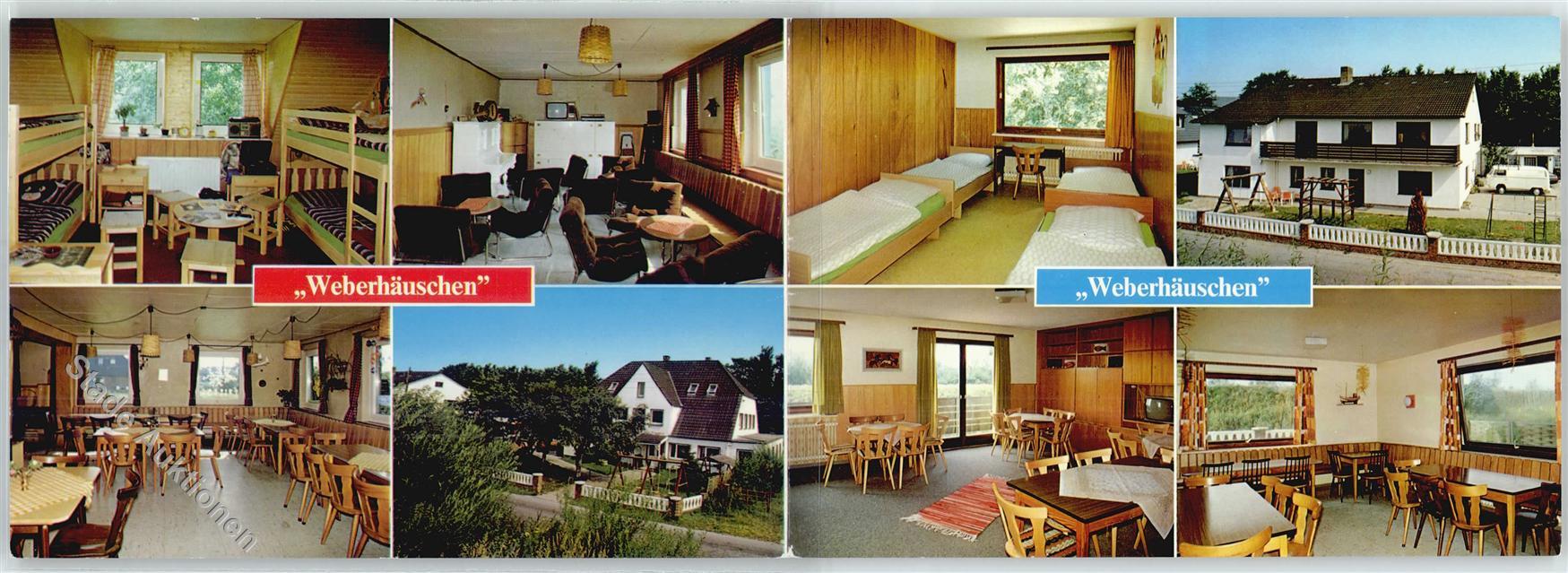 Sankt Peter Ording Karte.2252 Sankt Peter Ording Kinderheim Weberhauschen Klapp