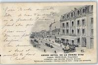Luxeuil-les-Bains 1908 Lithographie Grand Hotel Lure