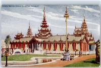 Wembley Lithographie / Künstlerkarte British empire exhibition  Myanmar ex Burma