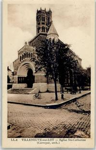 Villeneuve-sur-Lot 1947 Kirche St.Catherine