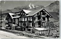 Adelboden BE 1952 Winter  Pension Alpenruhe