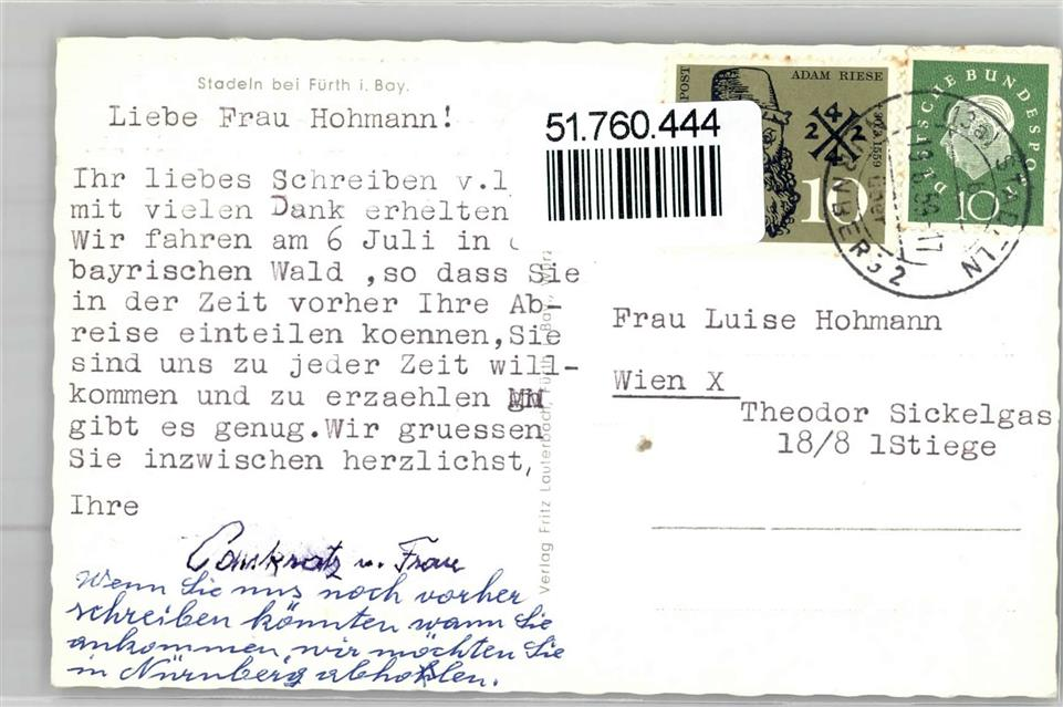 8510 Stadeln Rathaus Gasthaus Waldschänke Geschäft Hofmann Fürther ...