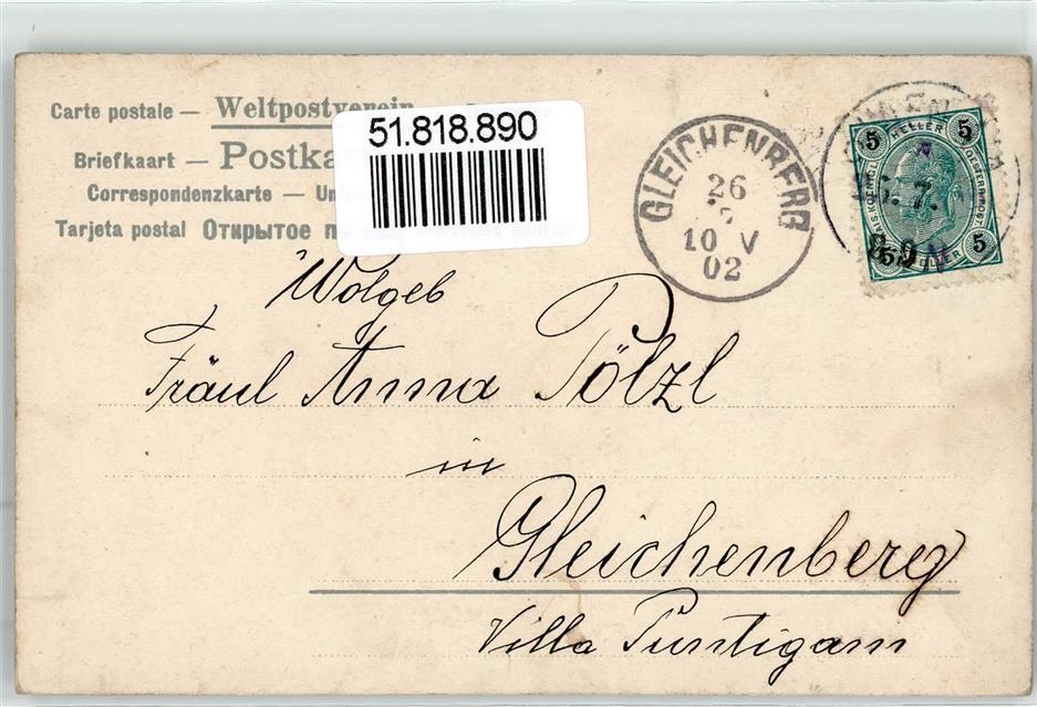 1902 Sankt Anna Namenstag Ansichtskarten Center Onlineshop