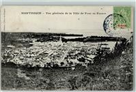 Fort de France 1907 Martinique