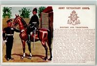 Lithographie / Künstlerkarte Army Veterinary Corps  Uniform Regiment AK  Militär