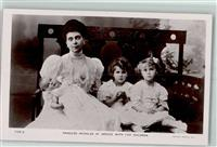 Foto AK Princess Nicholas of Greece with her children  Rotary Photo 7125 A  Adel