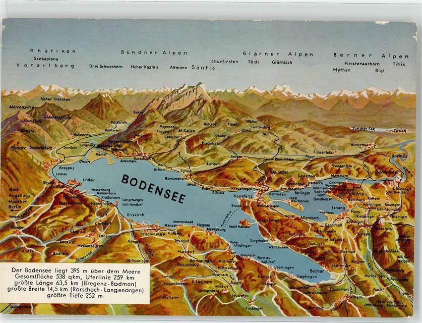 bodensee landkarte Bodensee Landkarte: Ansichtskarten Center Onlineshop bodensee landkarte