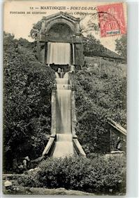 Fort-de-France 1913 Wasserfall Martinique