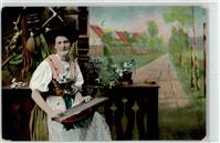 1908 Frau Zither