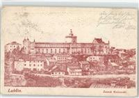 Lublin Lithographie Schloss