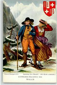 Collection Jean Bervard Octavie Rossignon Tracht 1830  Wallis / Valais VS, Trachten