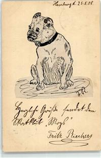 1908 Ganzsache Hund  Collage