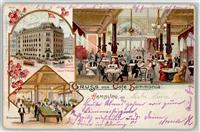 2000 Hamburg 1898 Lithographie Cafe Hammonia  Billard
