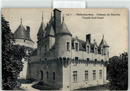 Malesherbes Schloss Chateau de Rouville Pithiviers